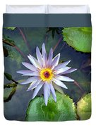 Purple Lotus Duvet Cover