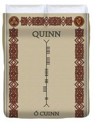 Quinn Written In Ogham Duvet Cover