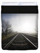 Railroad Tracks Duvet Cover