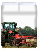Raking Hay Duvet Cover