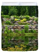 Rocks And Plants In Rock Garden Duvet Cover