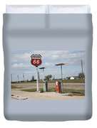 Route 66 - Adrian Texas Duvet Cover