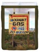 Route 66 - Jack Rabbit Trading Post Duvet Cover