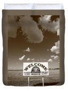 Route 66 - Midpoint Sign Duvet Cover