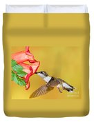 Ruby-throated Hummingbird Female Duvet Cover