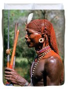 Samburu Warrior Duvet Cover