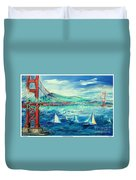 San Francisco Golden Gate Bridge Duvet Cover
