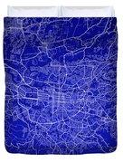 San Jose Street Map - San Jose Costa Rica Road Map Art On Colore Duvet Cover