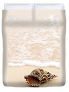 Seashell And Ocean Wave Duvet Cover