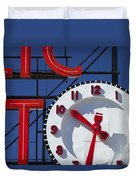 Seattle Market Sign Duvet Cover by Brian Jannsen