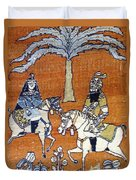 Shahnameh Ferdowsi Rostam And Sohrab Photos Of Persian Antique Rugs Kilims Carpets  Duvet Cover