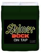 Shiner Bock On Tap Duvet Cover