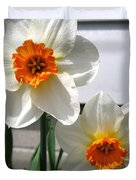 Small-cupped Daffodil Named Barrett Browning Duvet Cover