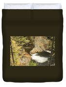 Smalls Falls In Western Maine Duvet Cover