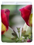 Snapdragon Named Floral Showers Red And Yellow Bicolour Duvet Cover