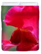 Snapdragon Named Red Chimes Duvet Cover