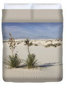Soaptree Yucca In Gypsum Sand White Duvet Cover