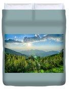 Sunrise Over Blue Ridge Mountains Scenic Overlook  Duvet Cover