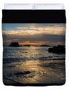 Sunset At Pismo Beach Duvet Cover