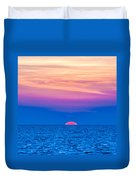 Sunset At Sea With Multiple Color Prizm Duvet Cover