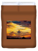 Sunset Sky By Artist Nature Duvet Cover