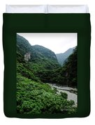 Taiwan Tropical Mountainscape Duvet Cover