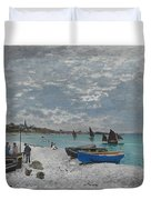 The Beach At Sainte-adresse Duvet Cover