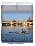 The River Thames At Hampton Court London Duvet Cover