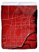 Thunder Bay Street Map - Thunder Bay Canada Road Map Art On Colo Duvet Cover