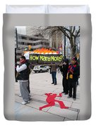 Tibetan Protest March Duvet Cover