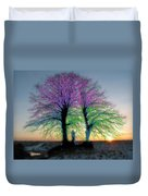 Trees Aglow Duvet Cover
