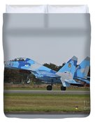 Ukrainian Air Force Su-27 Flanker Duvet Cover