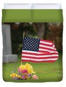 Us Flag On Memorial Day Duvet Cover