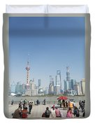 View Of Pudong In Shanghai China Duvet Cover