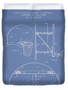 Vintage Basketball Goal Patent From 1944 Duvet Cover