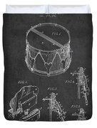 Vintage Snare Drum Patent Drawing From 1889 - Dark Duvet Cover