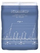 Vintage Steamship Patent From 1911 Duvet Cover