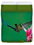Violet-tailed Sylph Duvet Cover