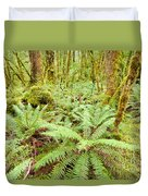 Virgin Rainforest Wilderness Of Fiordland Np Nz Duvet Cover