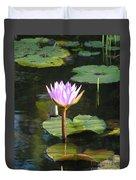 Pond Of Water Lily Duvet Cover