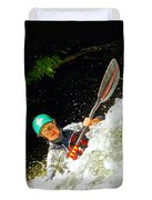 Whitewater Kayak Duvet Cover