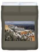 Winter Scene, Bryce Canyon National Park Duvet Cover