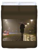 Woman With An Umbrella Duvet Cover