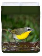 Yellow-breasted Chat Duvet Cover