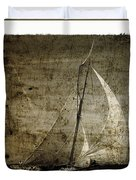40 Sailboat - With Open Wings In A Grunge Background  Duvet Cover