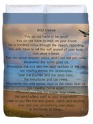 40- Wild Geese Mary Oliver Duvet Cover
