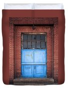 401 Blue Factory Door Duvet Cover