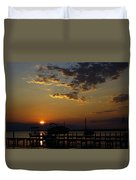 An Outer Banks Of North Carolina Sunset Duvet Cover