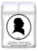 Marquis De Lafayette Duvet Cover