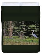 44- Alligator - Great Blue Heron Duvet Cover